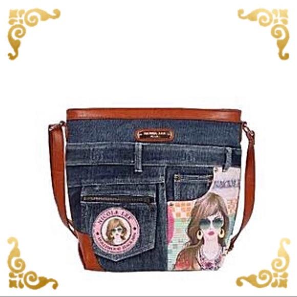 de5954e4157e ● Wanda Denim Print Crossbody Bag ● Boutique